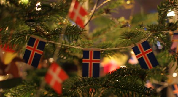 julepynt, islandske flag