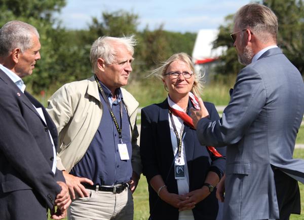 Formand for Danmarks Idræts-forbund Niels Nyggard gæstede VM-pladsen. Foto: KB